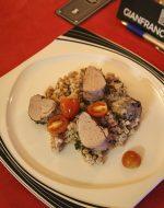 Hauptspeise - Schweinemedallion und Risotto
