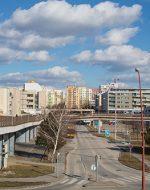 Trnava Stadt Blick hinter die Stadtmauer