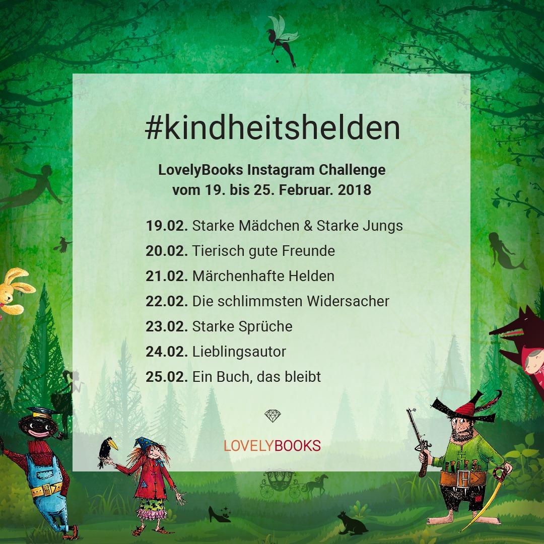 #Kindheitshelden – Lovelybooks Challenge