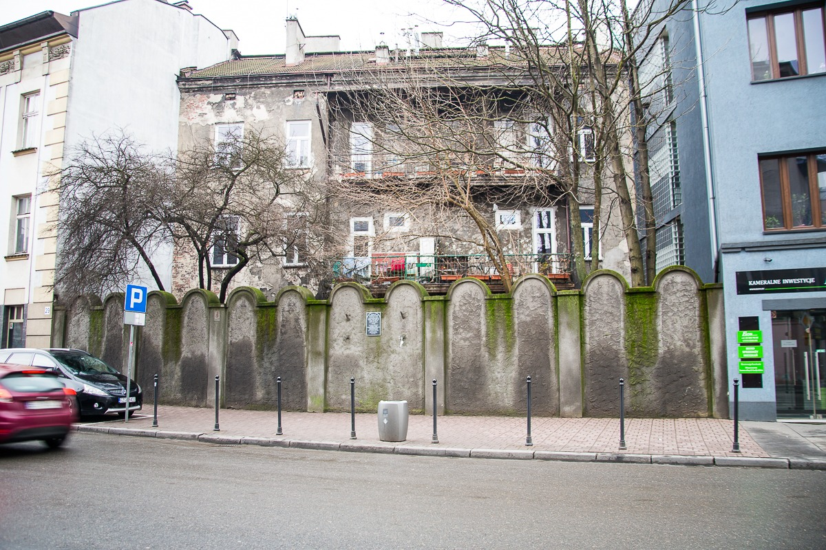 Krakau Ghetto Mauer