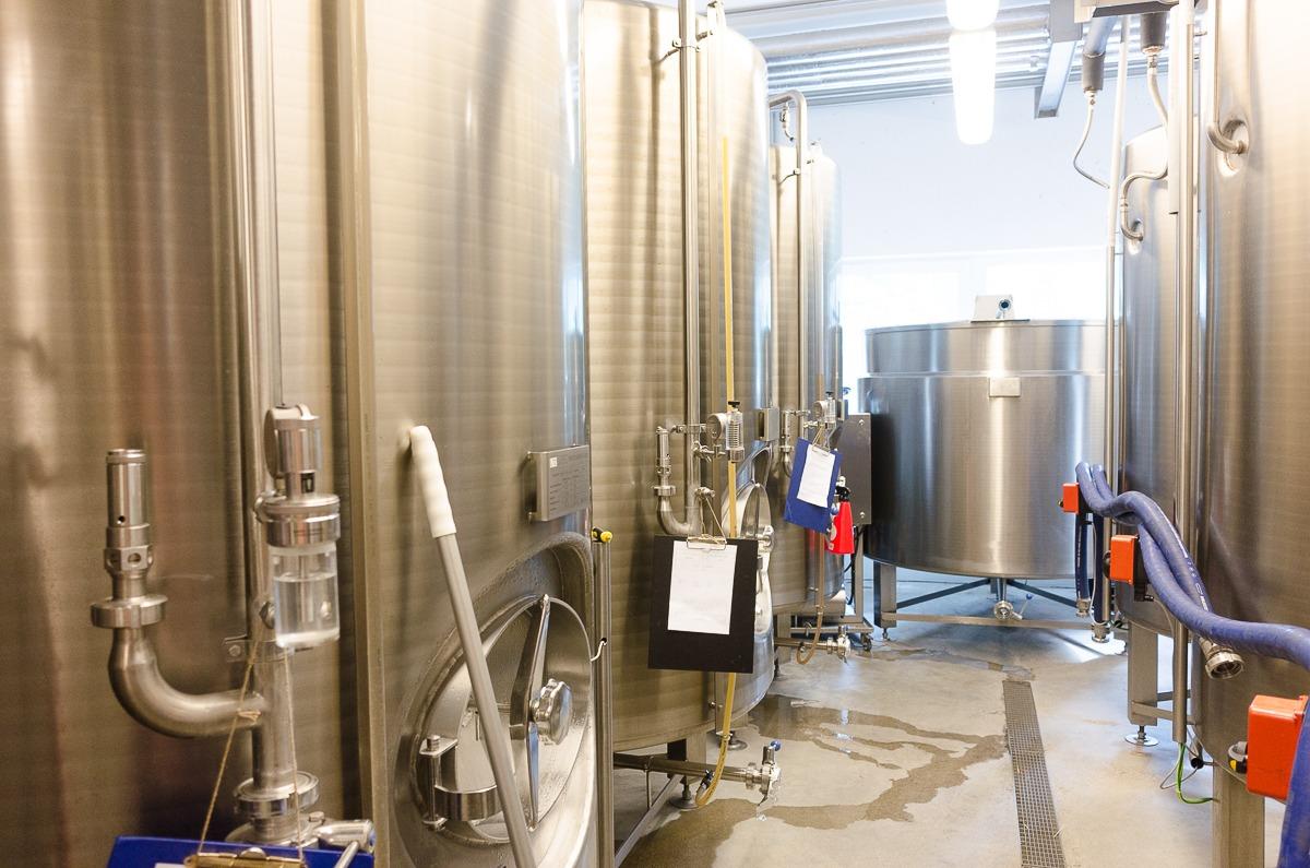 Die Lagerkessel - hier gären die Biere