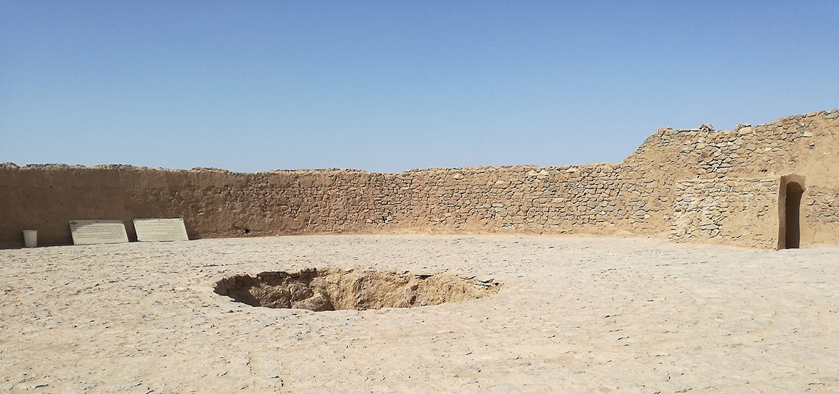 Auf dem Schweigeturm in Yazd