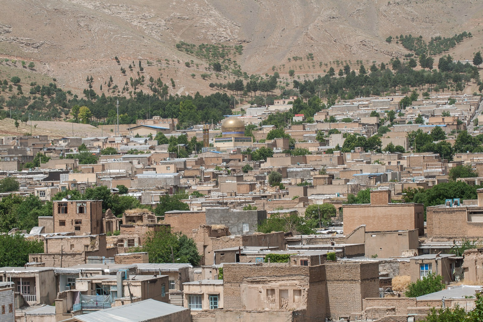 Blick von Falak-ol-Aflak über Khorrambad