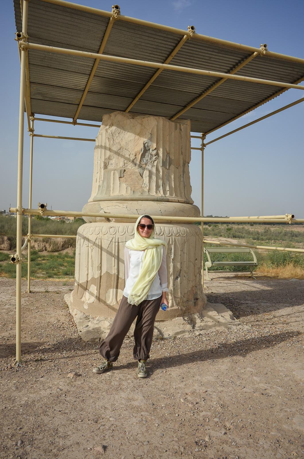 Eine Säule in der Elam Hauptstadt Susa