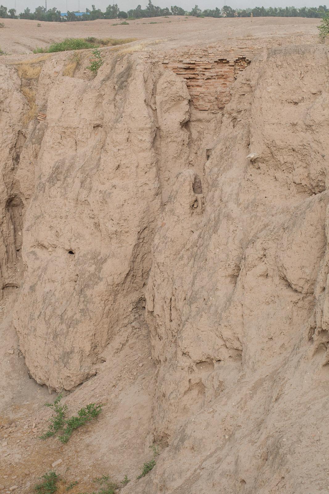 Unterschiedlich Schichten der Ausgrabungen in Susa