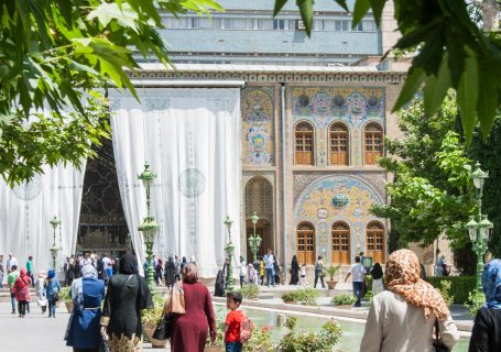 Golestan Palast und die Schrifttafeln Ganj Nameh - Iran - Tag 2