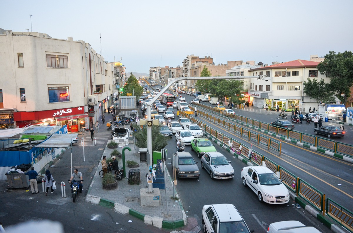 Teheran - verrückter Verkehr