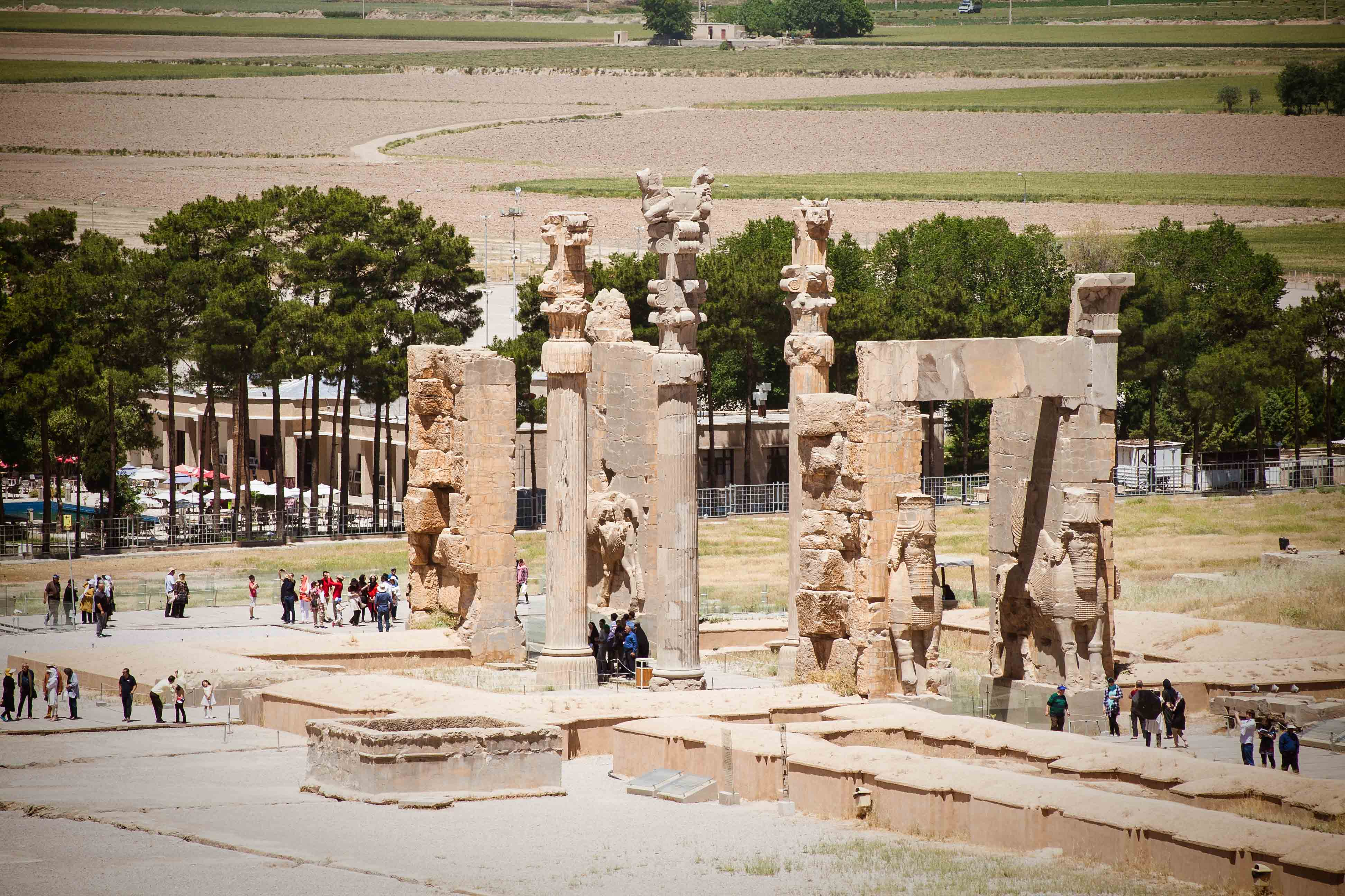 Blick auf das Tor aller Länder in Persepolis - Iran