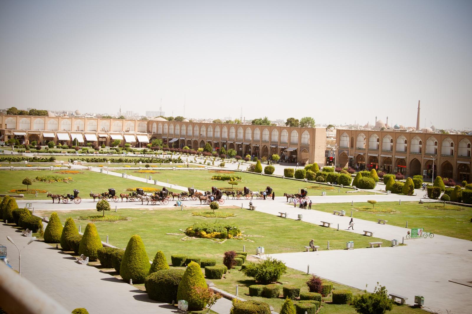 Der Naqsch-e-Daschahan Palast von oben
