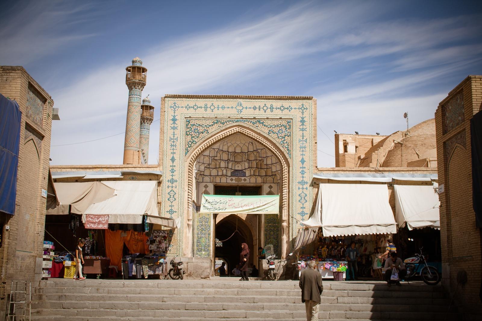 Jamee oder Freitagsmoschee in Isfahan von außen
