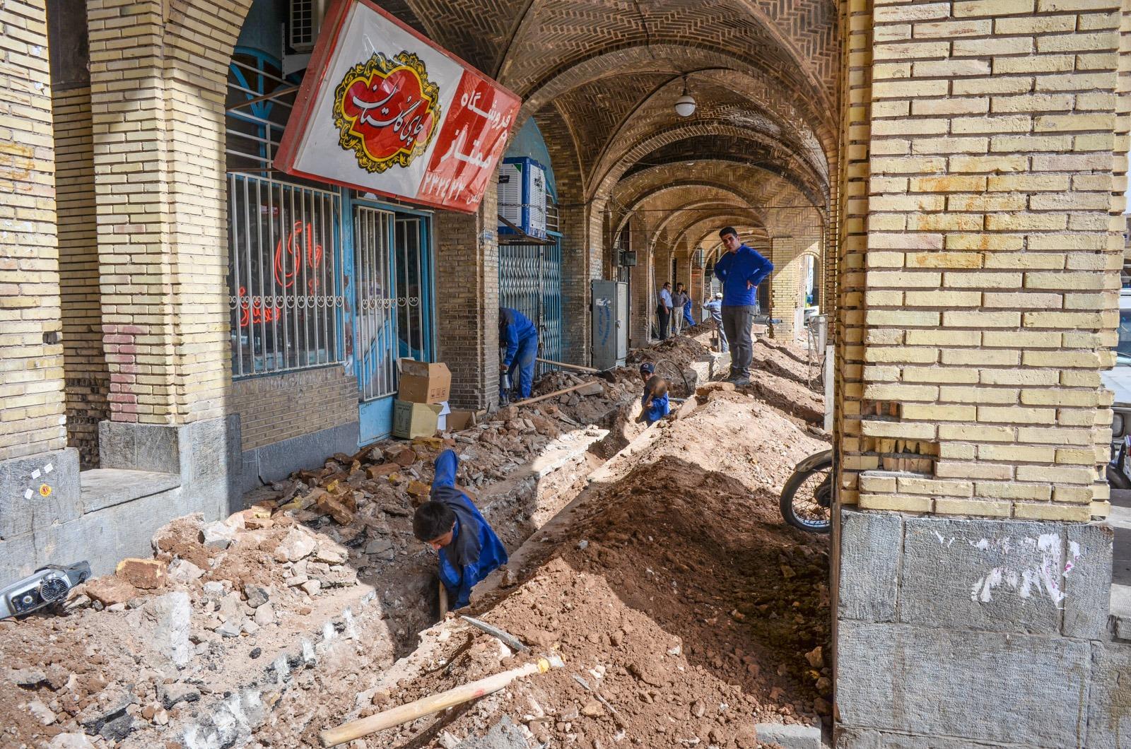 Bauarbeiten am Basar in Kerman