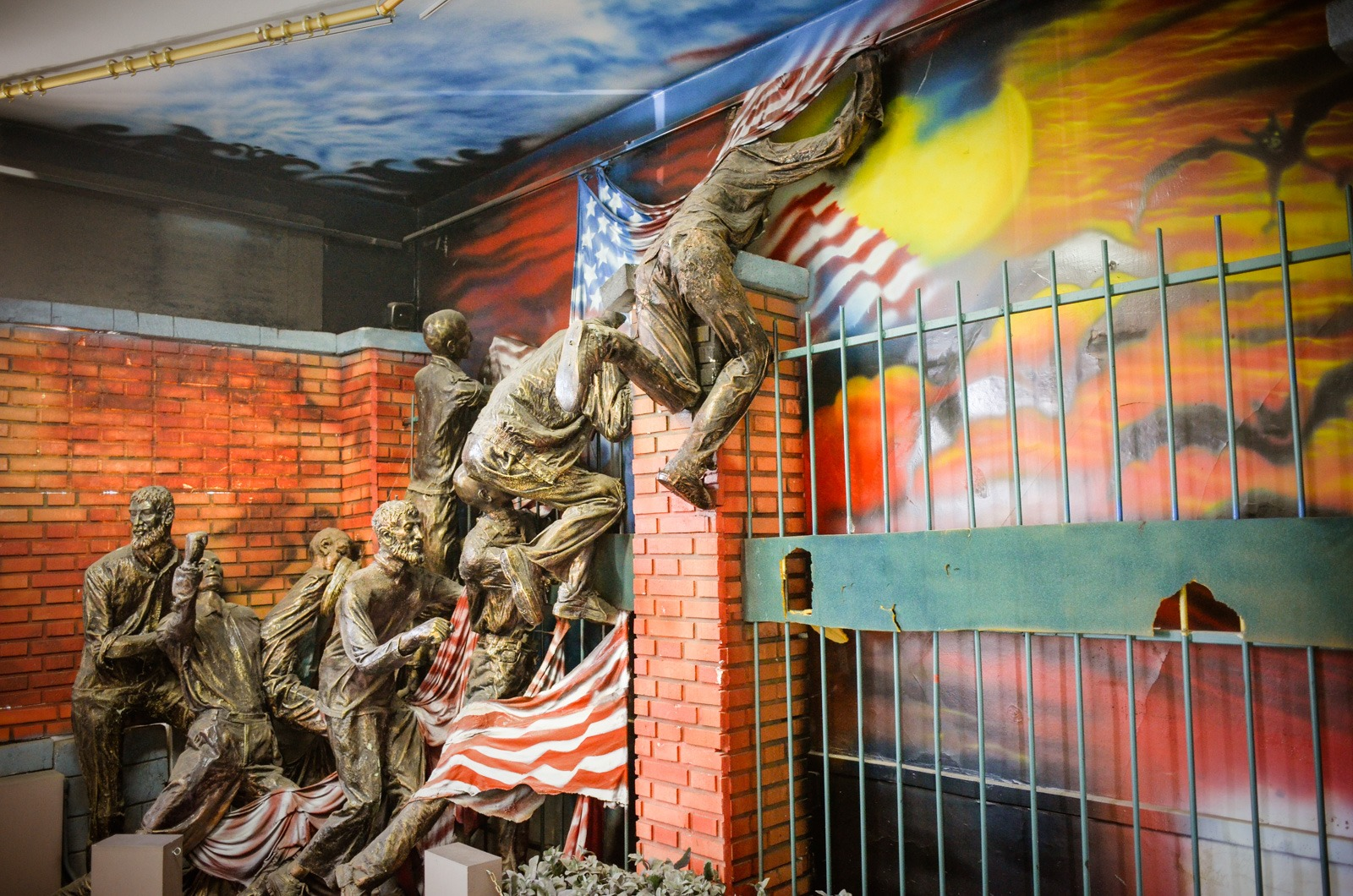 Sturm der ehemaliigen amerikanischen Botschaft - Iran - Teheran