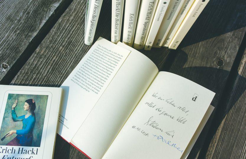 """Signierte Ausgabe """"Am Seil"""" von Erich Hackl und Lucia Heilman"""