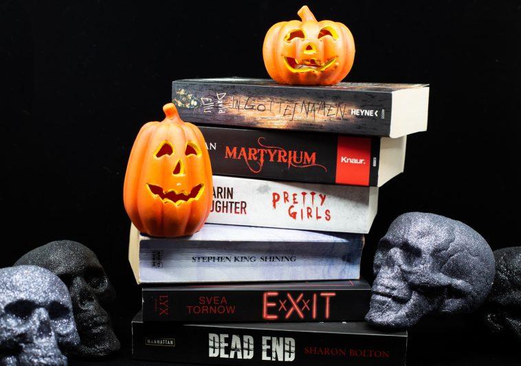 Halloween 6 Buchtipps / Leseempfehlungen mit Kürbis und Totenkopf