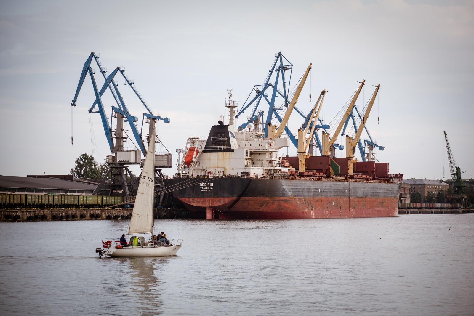 Der Hafen von Riga