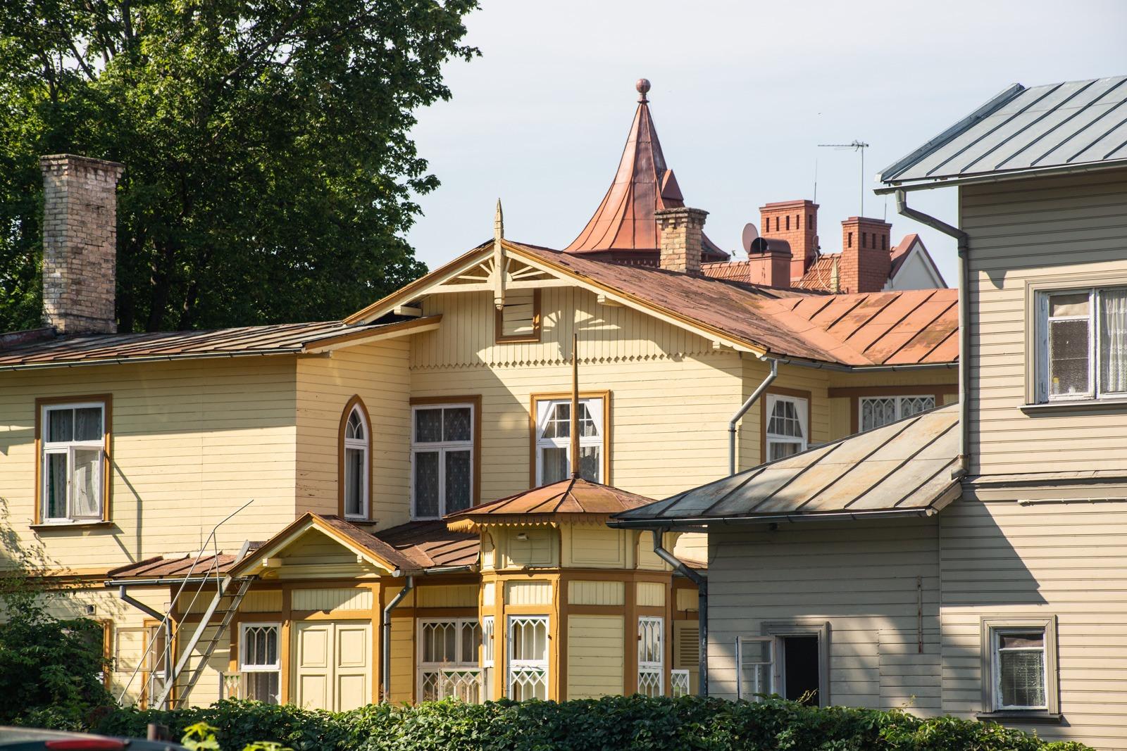 Tolle Architektur in Majori, Jurmala