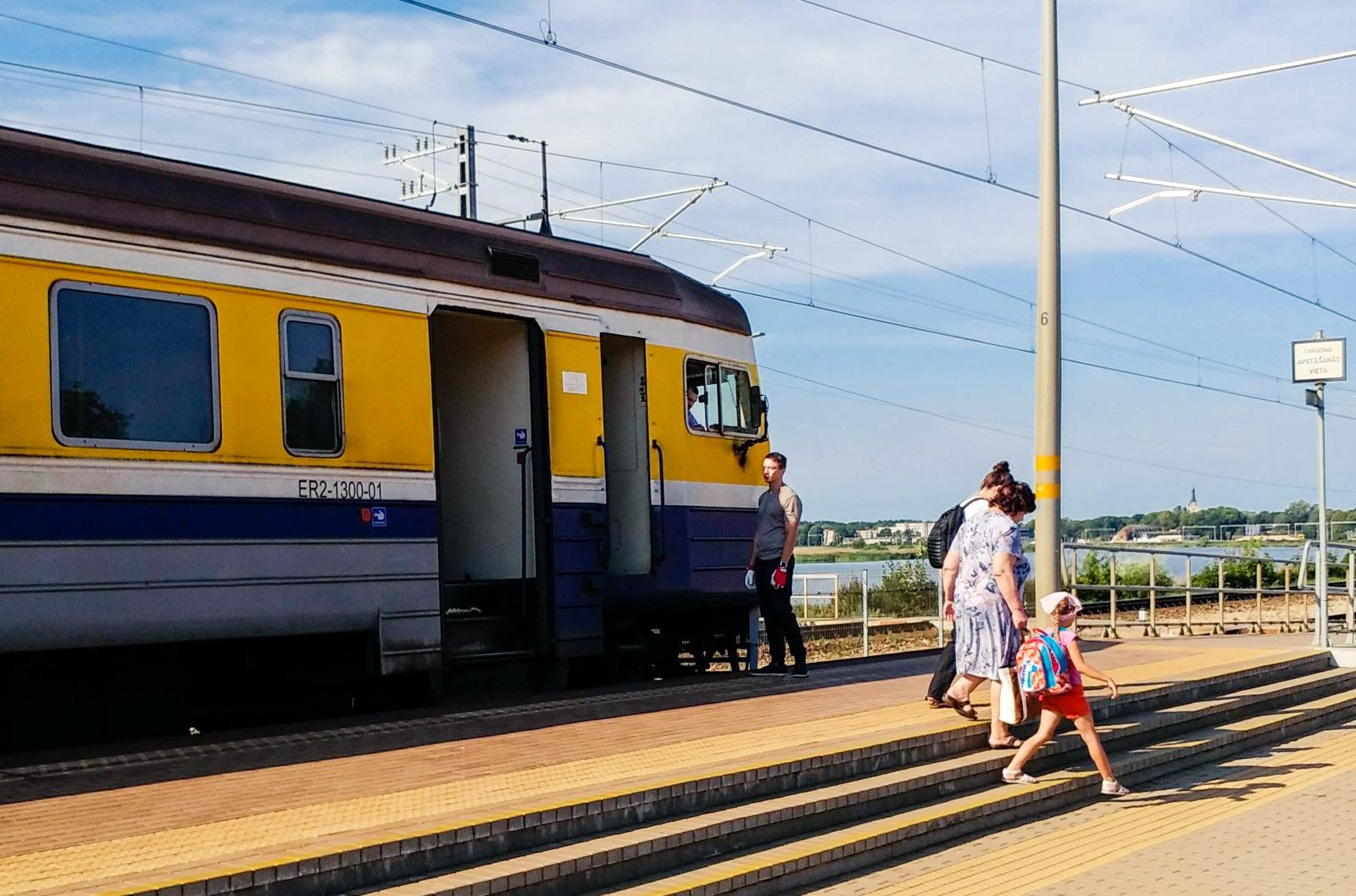 Mit dem Zug von Riga nach Jurmala, Majori