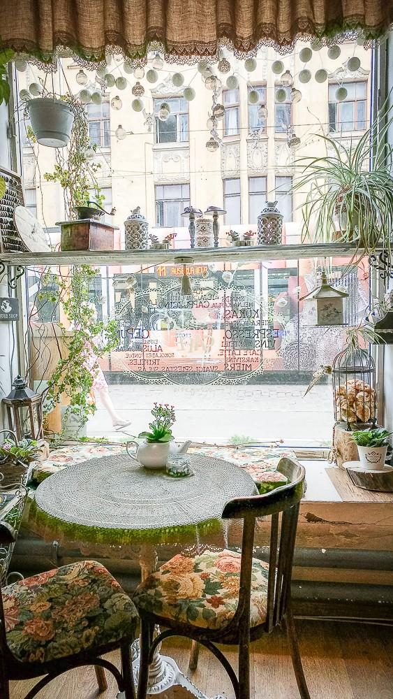 Schöner Ausblick im Miera Cafe