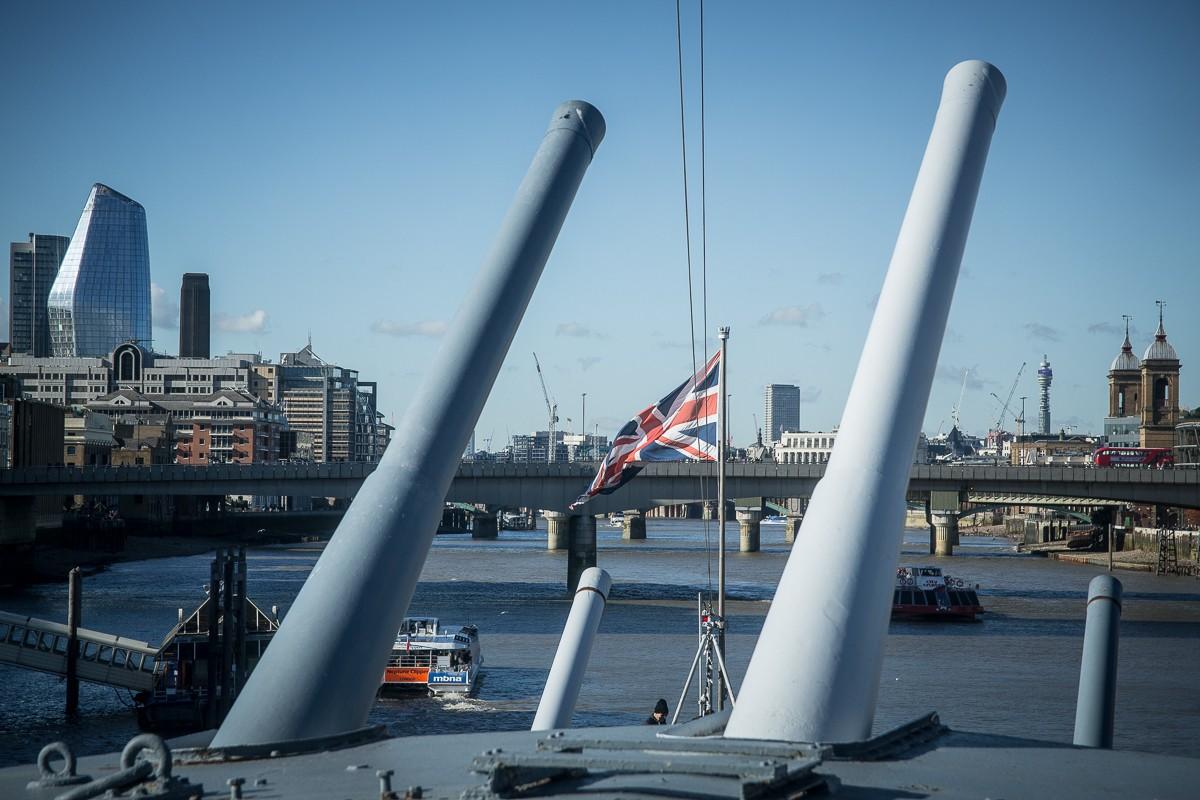 Kriegsschiff HSM Belfast in London