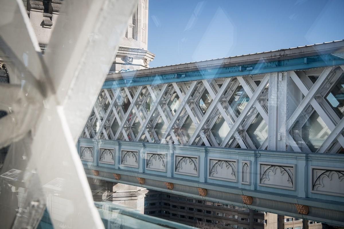 Details der Londoner Tower Bridge