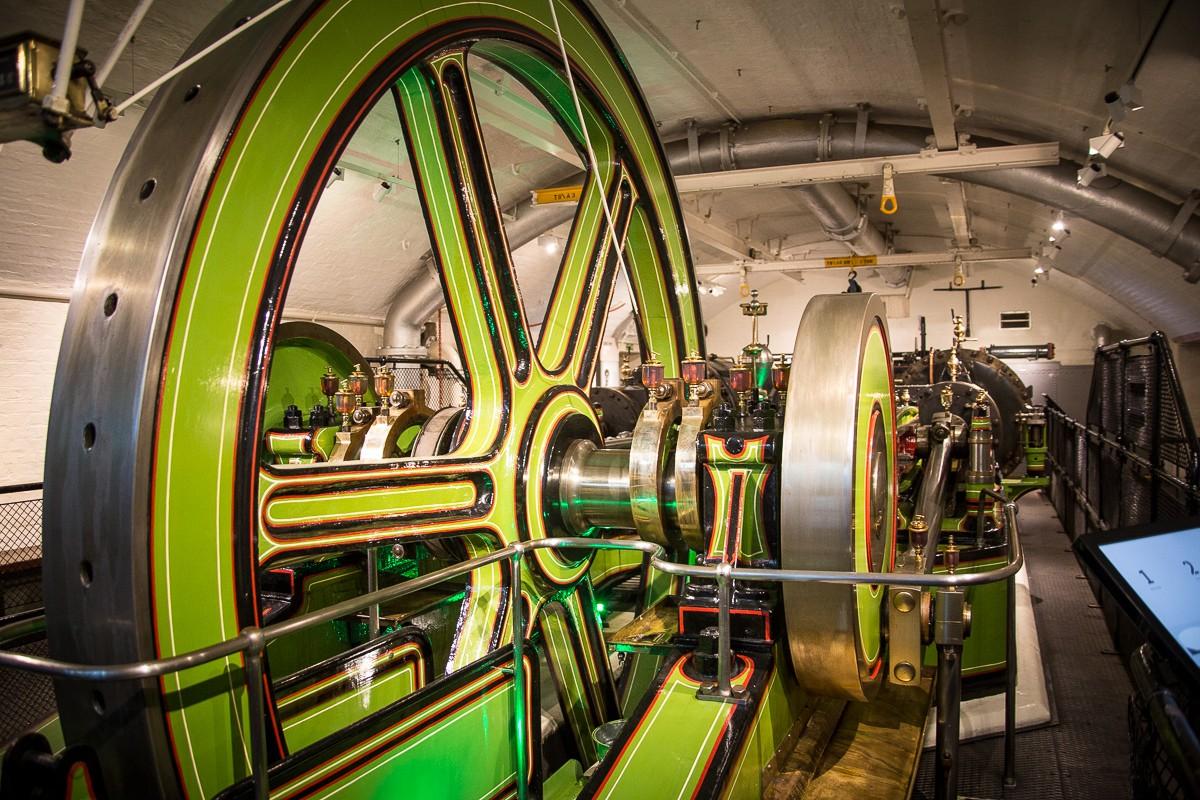 Maschinenraum der Tower Bridge in London