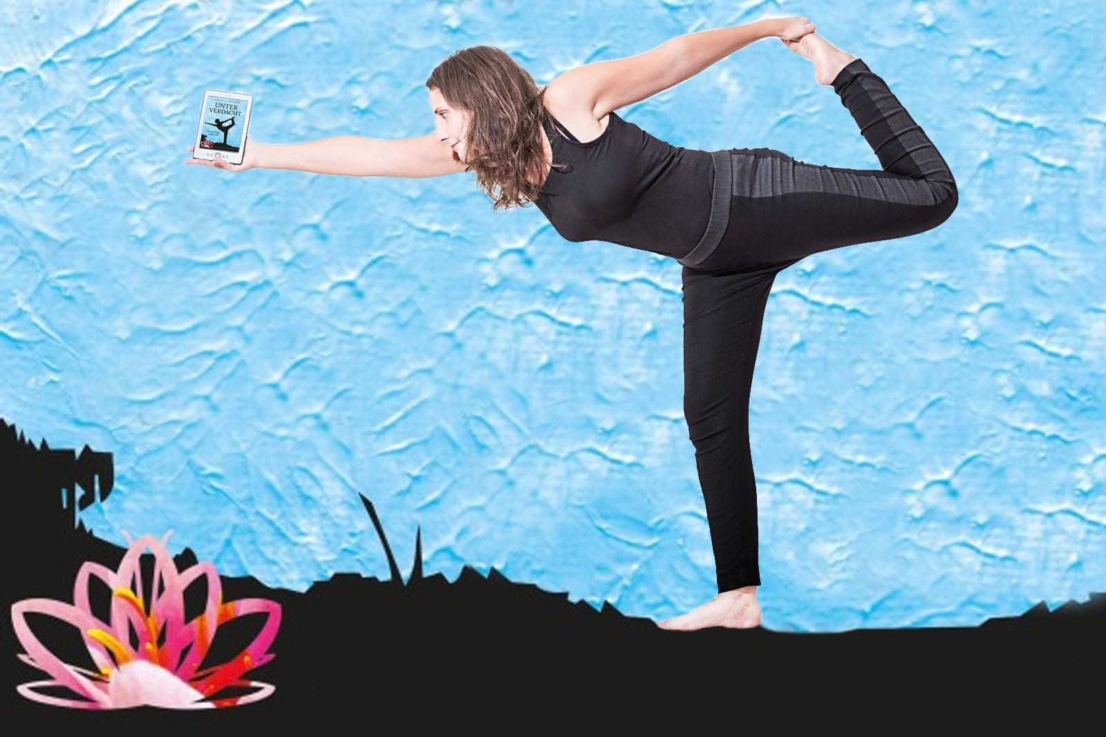 Unter Verdacht - Moorkamp - Lesefreude in der Yoga Position Tänzer