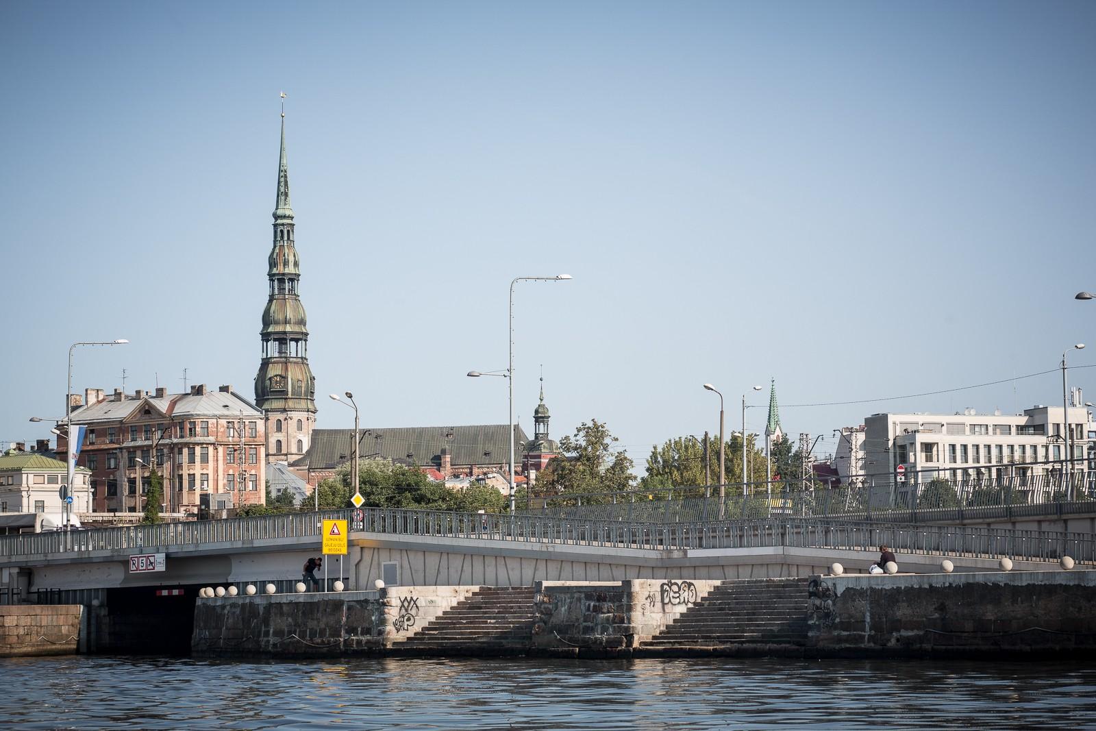 Riga by Canal auf der Duogava, Düna