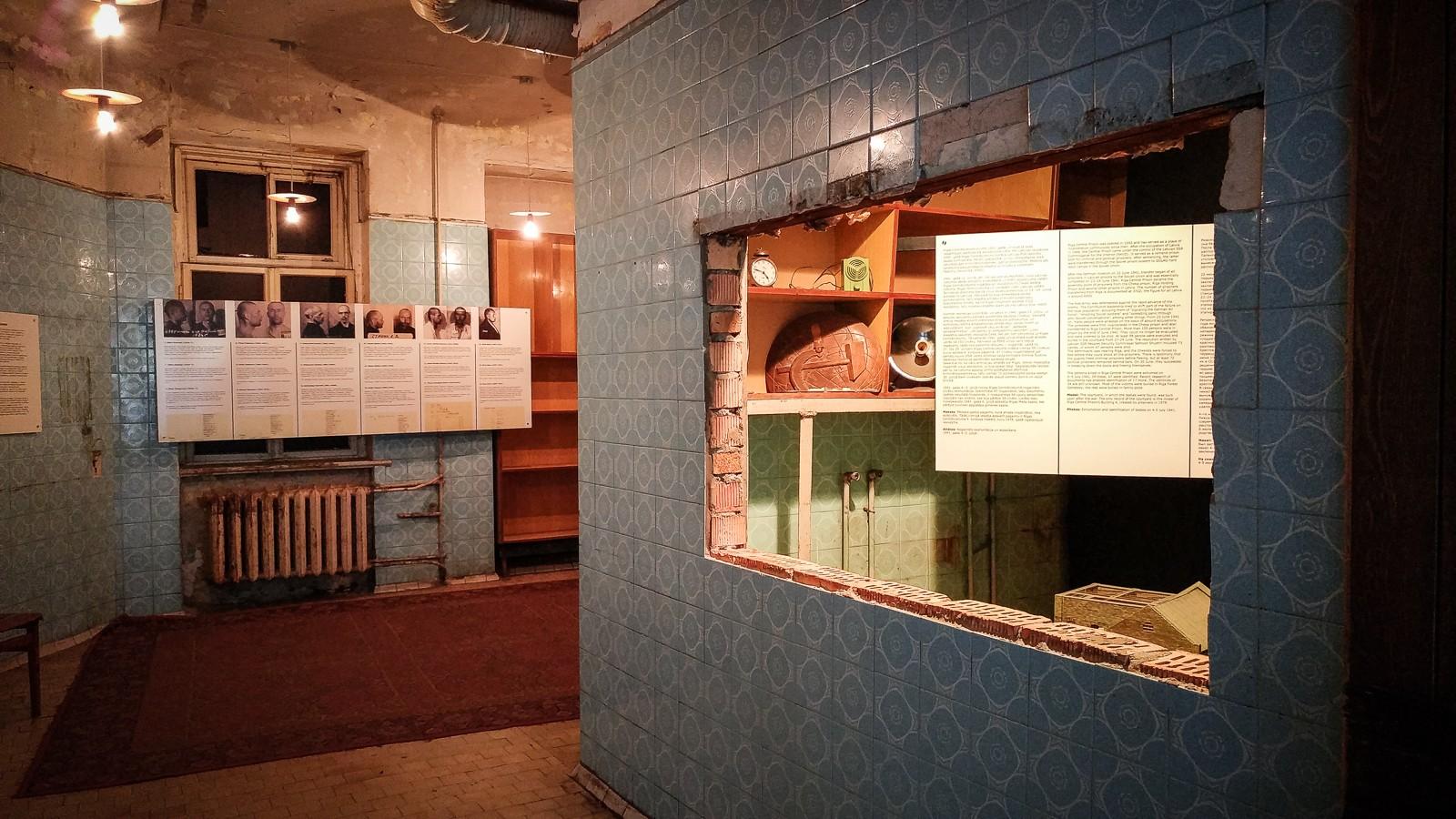 Küche der Angestellten im KGB Haus in Riga