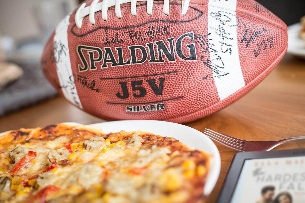 American Football und Pizza