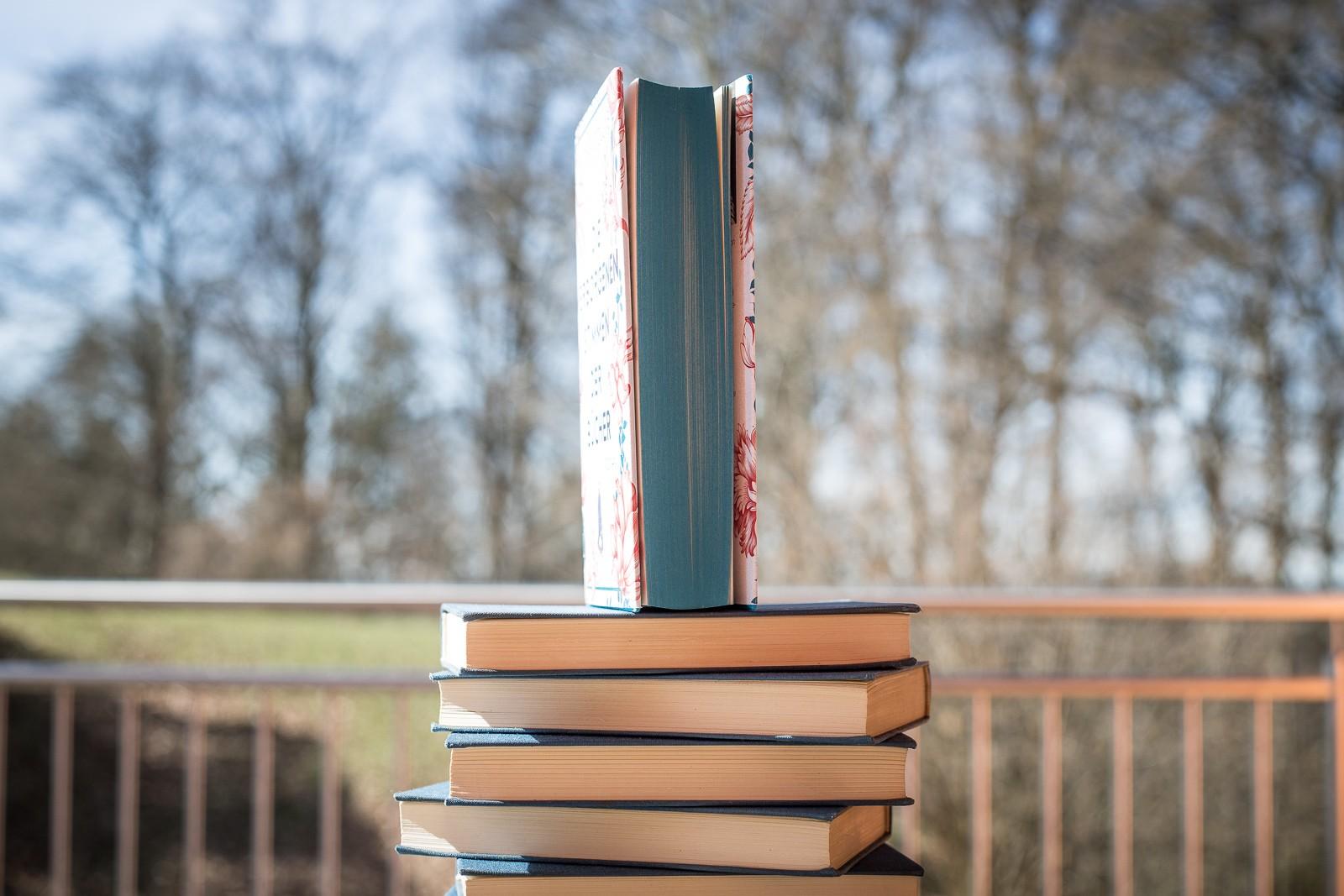 Die verborgenen Stimmen der Bücher - Bridget Collins mit blauem Buchschnitt
