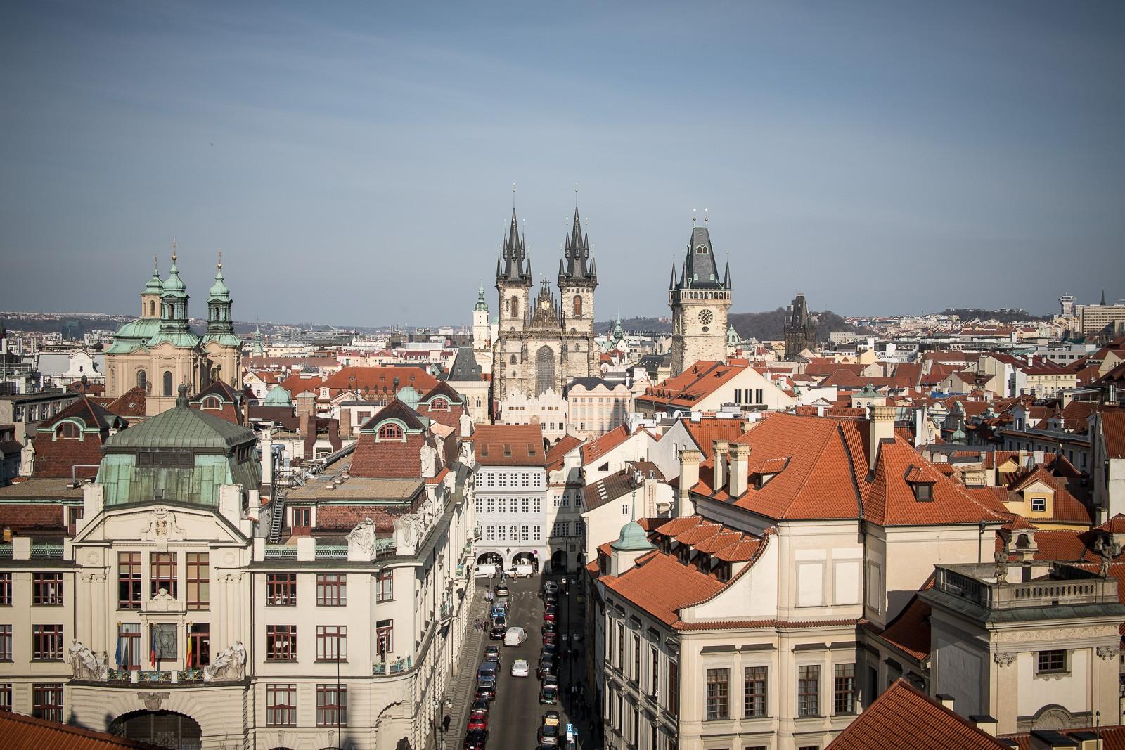 Blick vom Clementinum über Prag