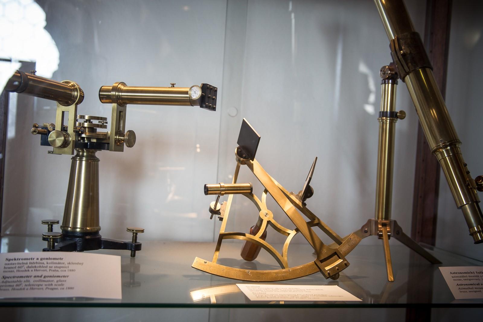 astonomische, historische Werkzeuge - Clementinum Prag