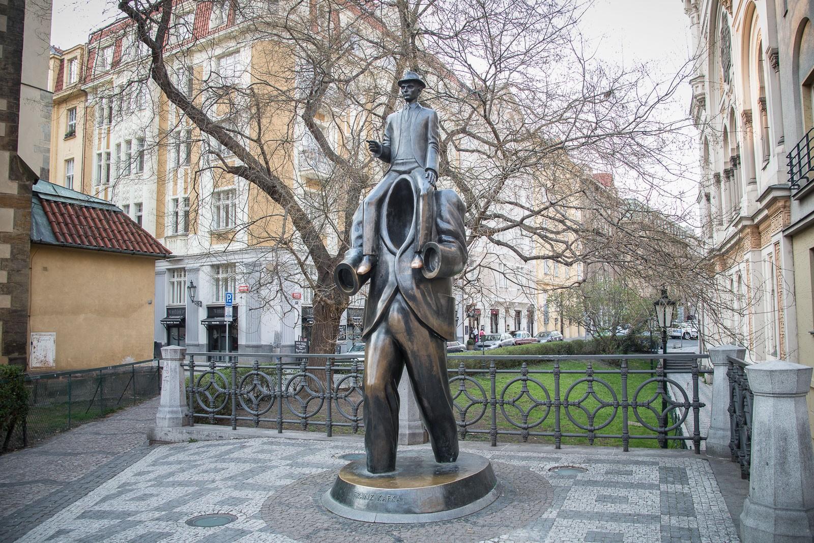 Franz Kafka Monument in Prag