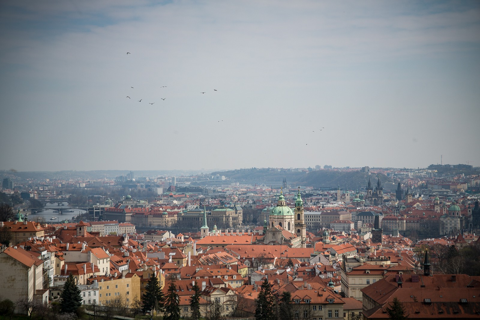 Blick vom Strahov Kloster über Prag