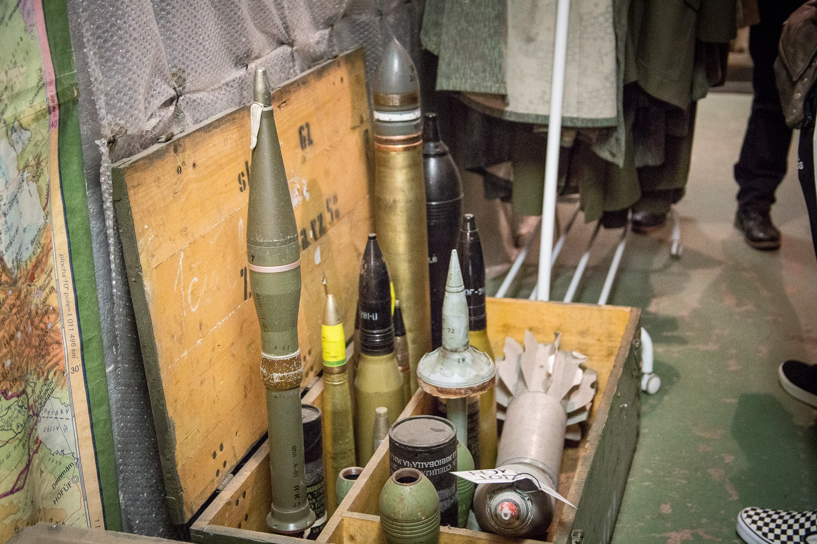 Munition im Atombunker in Prag